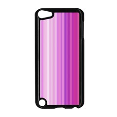 Pink Vertical Color Rainbow Purple Red Pink Line Apple iPod Touch 5 Case (Black)
