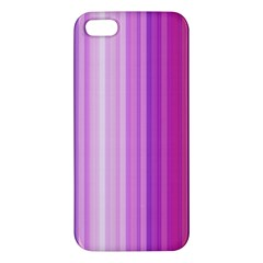Pink Vertical Color Rainbow Purple Red Pink Line Apple iPhone 5 Premium Hardshell Case