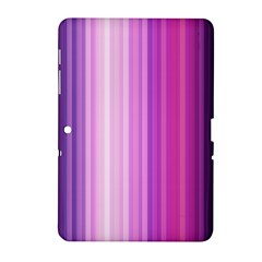 Pink Vertical Color Rainbow Purple Red Pink Line Samsung Galaxy Tab 2 (10.1 ) P5100 Hardshell Case