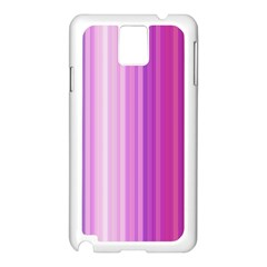 Pink Vertical Color Rainbow Purple Red Pink Line Samsung Galaxy Note 3 N9005 Case (White)