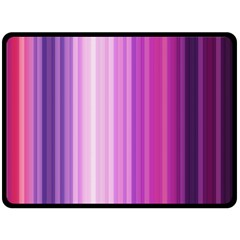 Pink Vertical Color Rainbow Purple Red Pink Line Double Sided Fleece Blanket (Large)