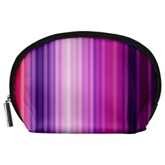Pink Vertical Color Rainbow Purple Red Pink Line Accessory Pouches (Large)