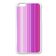 Pink Vertical Color Rainbow Purple Red Pink Line Apple iPhone 6 Plus/6S Plus Enamel White Case