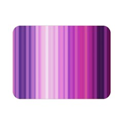 Pink Vertical Color Rainbow Purple Red Pink Line Double Sided Flano Blanket (Mini)