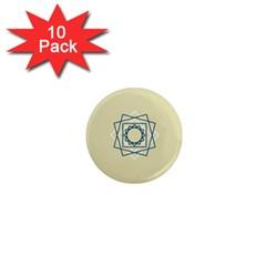 Shape Experimen Geometric Star Plaid Sign 1  Mini Magnet (10 pack)