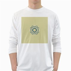 Shape Experimen Geometric Star Plaid Sign White Long Sleeve T-Shirts