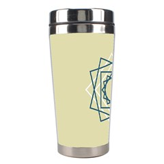 Shape Experimen Geometric Star Plaid Sign Stainless Steel Travel Tumblers