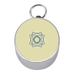 Shape Experimen Geometric Star Plaid Sign Mini Silver Compasses