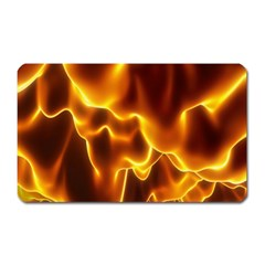 Sea Fire Orange Yellow Gold Wave Waves Magnet (rectangular)