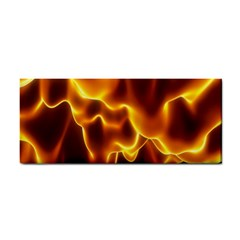 Sea Fire Orange Yellow Gold Wave Waves Cosmetic Storage Cases