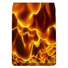 Sea Fire Orange Yellow Gold Wave Waves Flap Covers (L)