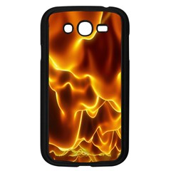 Sea Fire Orange Yellow Gold Wave Waves Samsung Galaxy Grand DUOS I9082 Case (Black)