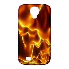 Sea Fire Orange Yellow Gold Wave Waves Samsung Galaxy S4 Classic Hardshell Case (PC+Silicone)