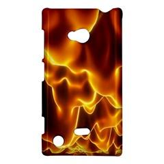 Sea Fire Orange Yellow Gold Wave Waves Nokia Lumia 720