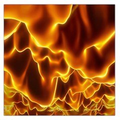 Sea Fire Orange Yellow Gold Wave Waves Large Satin Scarf (square)