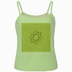 Shape Experimen Geometric Star Sign Green Spaghetti Tank