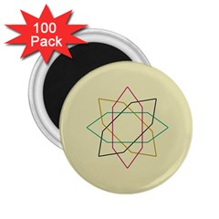 Shape Experimen Geometric Star Sign 2.25  Magnets (100 pack)