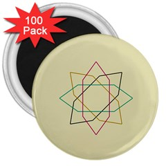 Shape Experimen Geometric Star Sign 3  Magnets (100 pack)