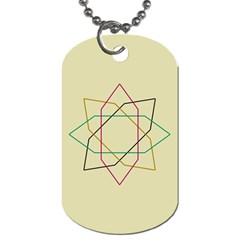 Shape Experimen Geometric Star Sign Dog Tag (Two Sides)