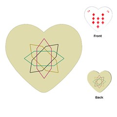 Shape Experimen Geometric Star Sign Playing Cards (Heart)