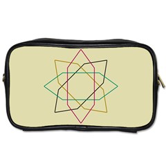 Shape Experimen Geometric Star Sign Toiletries Bags 2-Side