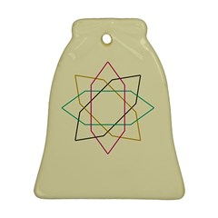 Shape Experimen Geometric Star Sign Bell Ornament (Two Sides)