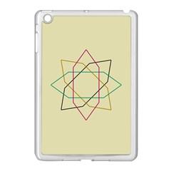 Shape Experimen Geometric Star Sign Apple iPad Mini Case (White)