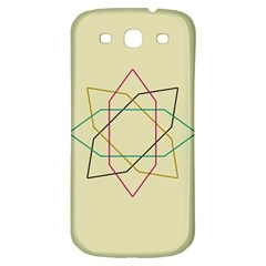Shape Experimen Geometric Star Sign Samsung Galaxy S3 S III Classic Hardshell Back Case