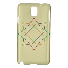 Shape Experimen Geometric Star Sign Samsung Galaxy Note 3 N9005 Hardshell Case