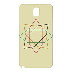 Shape Experimen Geometric Star Sign Samsung Galaxy Note 3 N9005 Hardshell Back Case