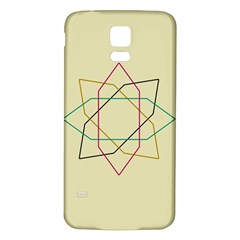 Shape Experimen Geometric Star Sign Samsung Galaxy S5 Back Case (White)