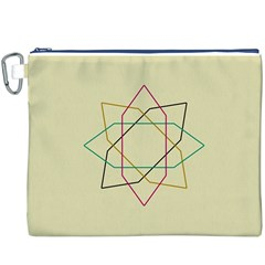 Shape Experimen Geometric Star Sign Canvas Cosmetic Bag (XXXL)