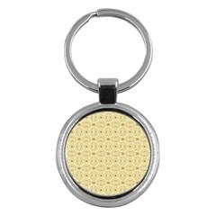 Gold Geometric Plaid Circle Key Chains (Round)