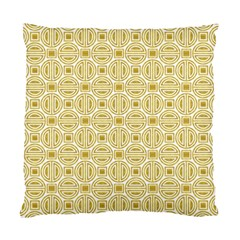 Gold Geometric Plaid Circle Standard Cushion Case (One Side)