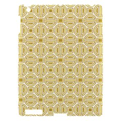 Gold Geometric Plaid Circle Apple Ipad 3/4 Hardshell Case