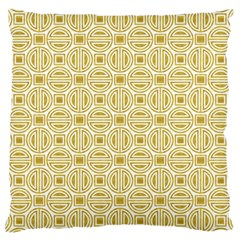 Gold Geometric Plaid Circle Large Cushion Case (two Sides)
