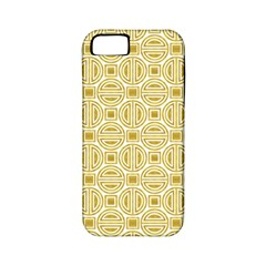 Gold Geometric Plaid Circle Apple iPhone 5 Classic Hardshell Case (PC+Silicone)
