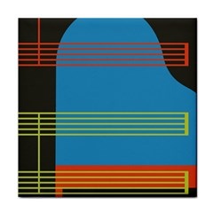 Sketches Tone Red Yellow Blue Black Musical Scale Tile Coasters