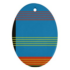 Sketches Tone Red Yellow Blue Black Musical Scale Ornament (Oval)