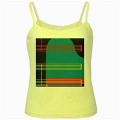 Sketches Tone Red Yellow Blue Black Musical Scale Yellow Spaghetti Tank