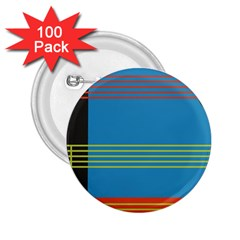 Sketches Tone Red Yellow Blue Black Musical Scale 2 25  Buttons (100 Pack)
