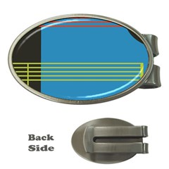 Sketches Tone Red Yellow Blue Black Musical Scale Money Clips (Oval)