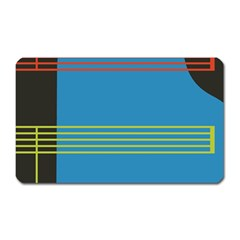 Sketches Tone Red Yellow Blue Black Musical Scale Magnet (Rectangular)