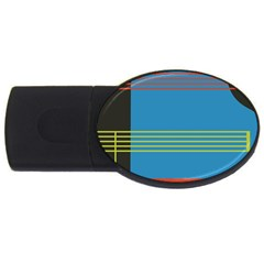 Sketches Tone Red Yellow Blue Black Musical Scale USB Flash Drive Oval (1 GB)