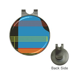 Sketches Tone Red Yellow Blue Black Musical Scale Hat Clips With Golf Markers