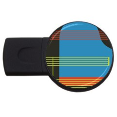 Sketches Tone Red Yellow Blue Black Musical Scale USB Flash Drive Round (4 GB)