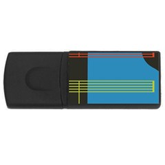 Sketches Tone Red Yellow Blue Black Musical Scale USB Flash Drive Rectangular (4 GB)