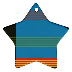 Sketches Tone Red Yellow Blue Black Musical Scale Star Ornament (Two Sides)