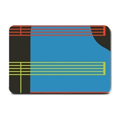 Sketches Tone Red Yellow Blue Black Musical Scale Small Doormat