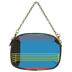 Sketches Tone Red Yellow Blue Black Musical Scale Chain Purses (One Side)
